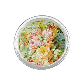 Florida Water Perfume with Cabbage Roses Ring