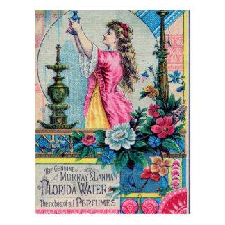 Florida water vintage perfume ad victorian deco postcard