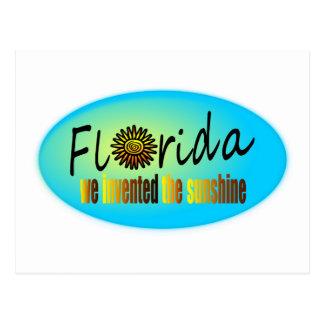 Florida - We Invented The Sunshine, With Big Sun Postcard