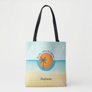 Florida... Where the Sun Lives Peaceful Beach Tote Bag