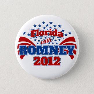 Florida with Romney 2012 6 Cm Round Badge