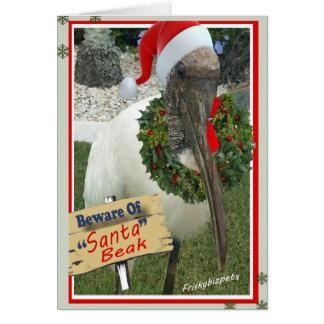 Floridian Bird Beware Of Santa Beak Card