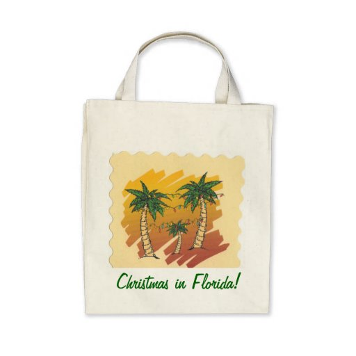 Floridian Christmas Tote Caryall Bag