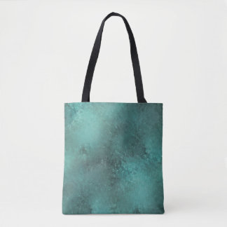 Florilla Turquoise And Grey Tote Bag