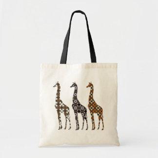 Florilla's Giraffe Budget Tote Bag