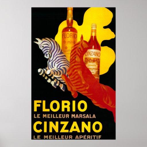 Florio Cinzano Vintage PosterEurope Poster