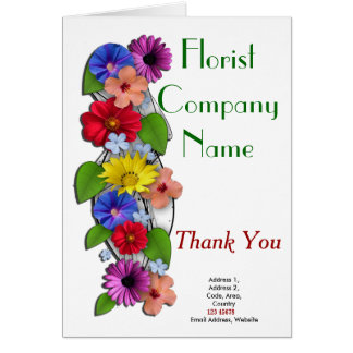 Florist Business Theme Collection Card