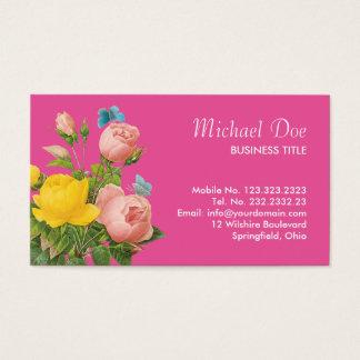Florist Dainty Vintage Floral Chic Garden Business Card