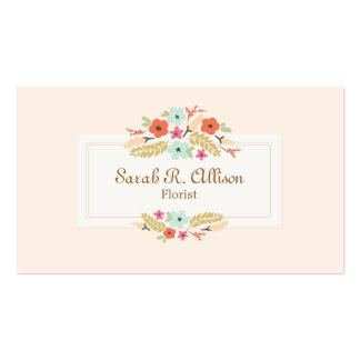 Florist Floral Bouquet Peach Pack Of Standard Business Cards