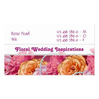Florist florists flower floral designer business card templates