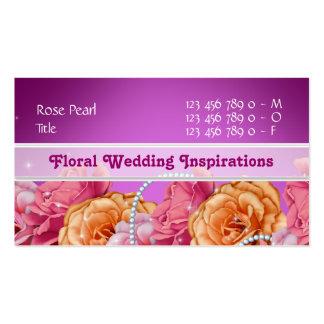 Florist flower floral rose purple business card template