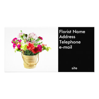 Florist Photo Business Card Photo Card Template
