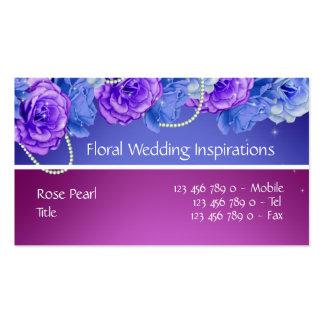 Florist wedding planner nursery spa business card templates