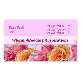 Florist wedding planner nursery spa pink business cards