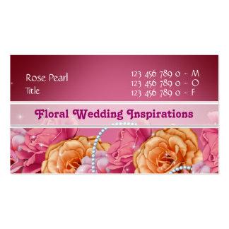 Florist wedding planner nursery spa pink business card template