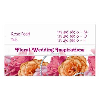 Florists floral flower florists wedding business card template