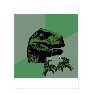 Flossoraptor Philosoraptor Postcard