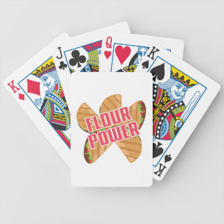 Flour Power Bicycle Playing Cards