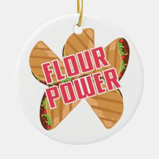 Flour Power Ceramic Ornament