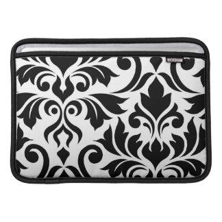 Flourish Damask Art I 2Way Black & White MacBook Sleeve