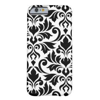 Flourish Damask Art I Black on White Barely There iPhone 6 Case