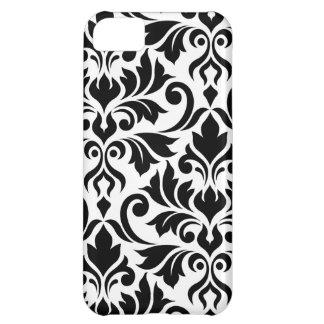 Flourish Damask Art I Black on White iPhone 5C Case