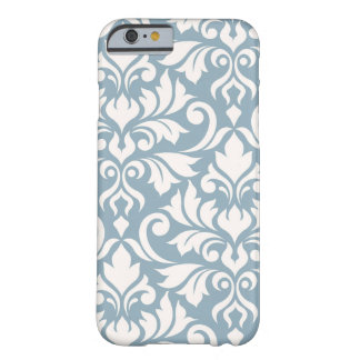 Flourish Damask Art I Cream on Blue Barely There iPhone 6 Case
