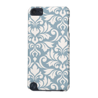 Flourish Damask Art I Cream on Blue iPod Touch 5G Covers