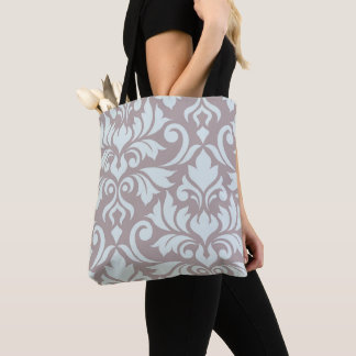 Flourish Damask Art I Duck Egg Blue on Taupe Tote Bag