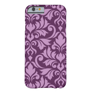Flourish Damask Art I Pink on Plum Barely There iPhone 6 Case