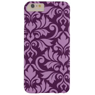 Flourish Damask Art I Pink on Plum Barely There iPhone 6 Plus Case