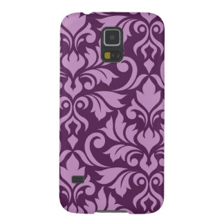 Flourish Damask Art I Pink on Plum Galaxy S5 Cases
