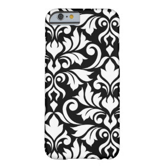 Flourish Damask Art I White on Black Barely There iPhone 6 Case