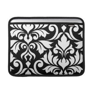 Flourish Damask Art I White on Black Sleeve For MacBook Air
