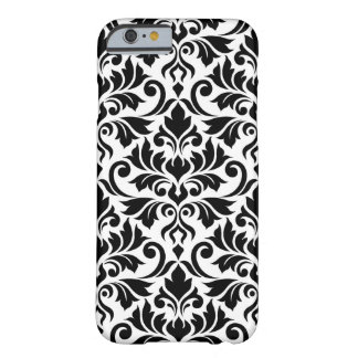 Flourish Damask Big Pattern Black on White Barely There iPhone 6 Case