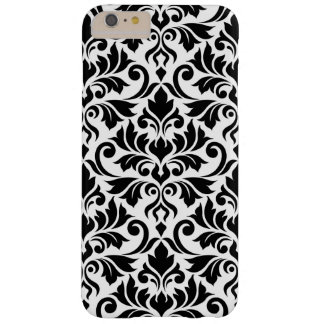 Flourish Damask Big Pattern Black on White Barely There iPhone 6 Plus Case