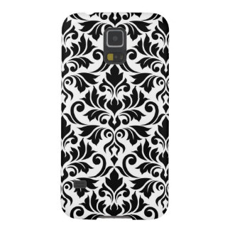 Flourish Damask Big Pattern Black on White Galaxy S5 Cases