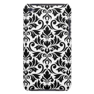 Flourish Damask Big Pattern Black on White iPod Touch Cases