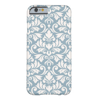 Flourish Damask Big Pattern Cream on Blue Barely There iPhone 6 Case