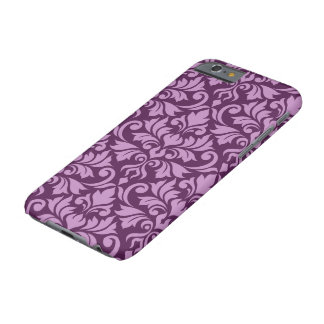Flourish Damask Big Pattern Pink on Plum Barely There iPhone 6 Case