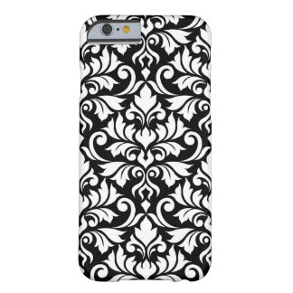 Flourish Damask Big Pattern White on Black Barely There iPhone 6 Case