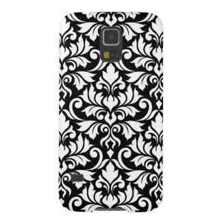 Flourish Damask Big Pattern White on Black Galaxy S5 Case
