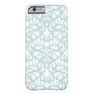Flourish Damask Big Pattern White on Duck Egg Blue Barely There iPhone 6 Case