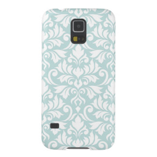 Flourish Damask Big Pattern White on Duck Egg Blue Galaxy S5 Case