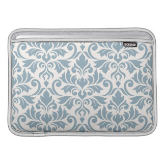 Flourish Damask Lg Pattern Blue on Cream Sleeve For MacBook Air