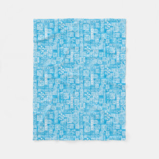 Flourish Design Verse Winter Blue Fleece Blanket