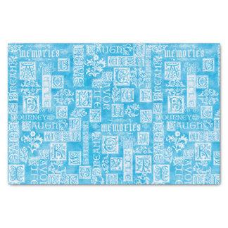 Flourish Design Verse Winter Blue Tissue Paper