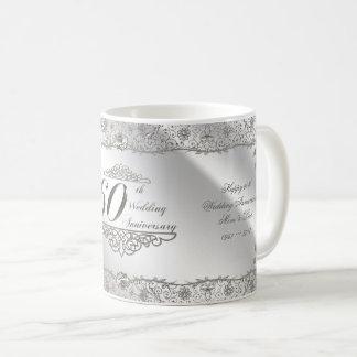 Flourish Diamond 60th Anniversary Coffee Mug