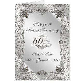 Flourish Diamond 60th Anniversary Greeting Card