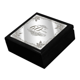 Flourish Diamond 60th Wedding Anniversary Gift Box